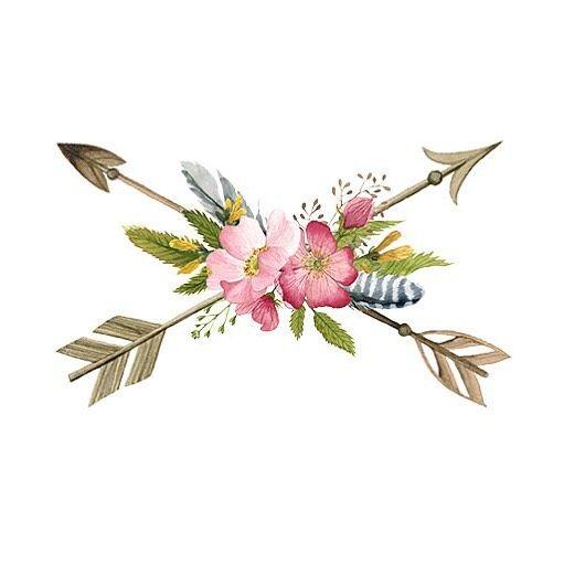 New Boho Floral Arrows Temporary Tattoo Arrowtattoo
