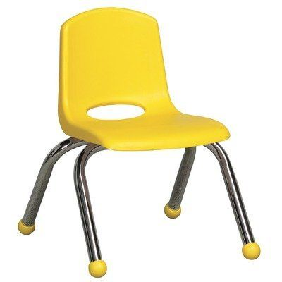 10 plastic classroom stackable chair seat color yellow foot type rh pinterest com