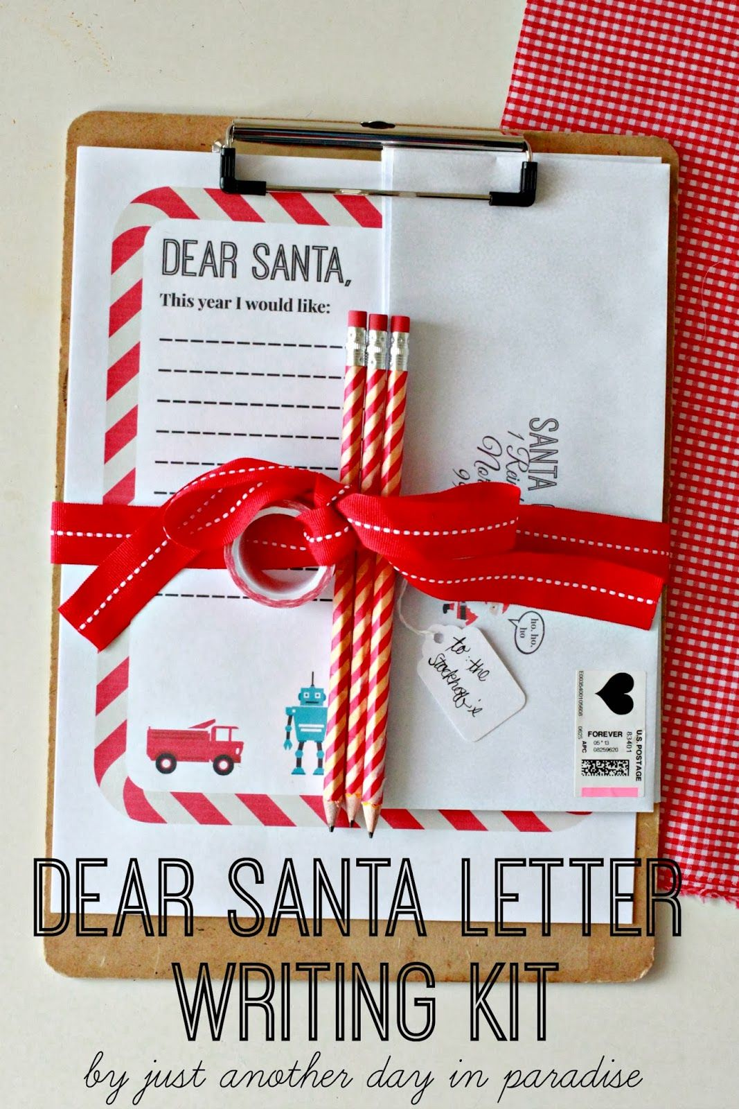 Just Another Day In Paradise Dear Santa Letter Writing Kit And Printable