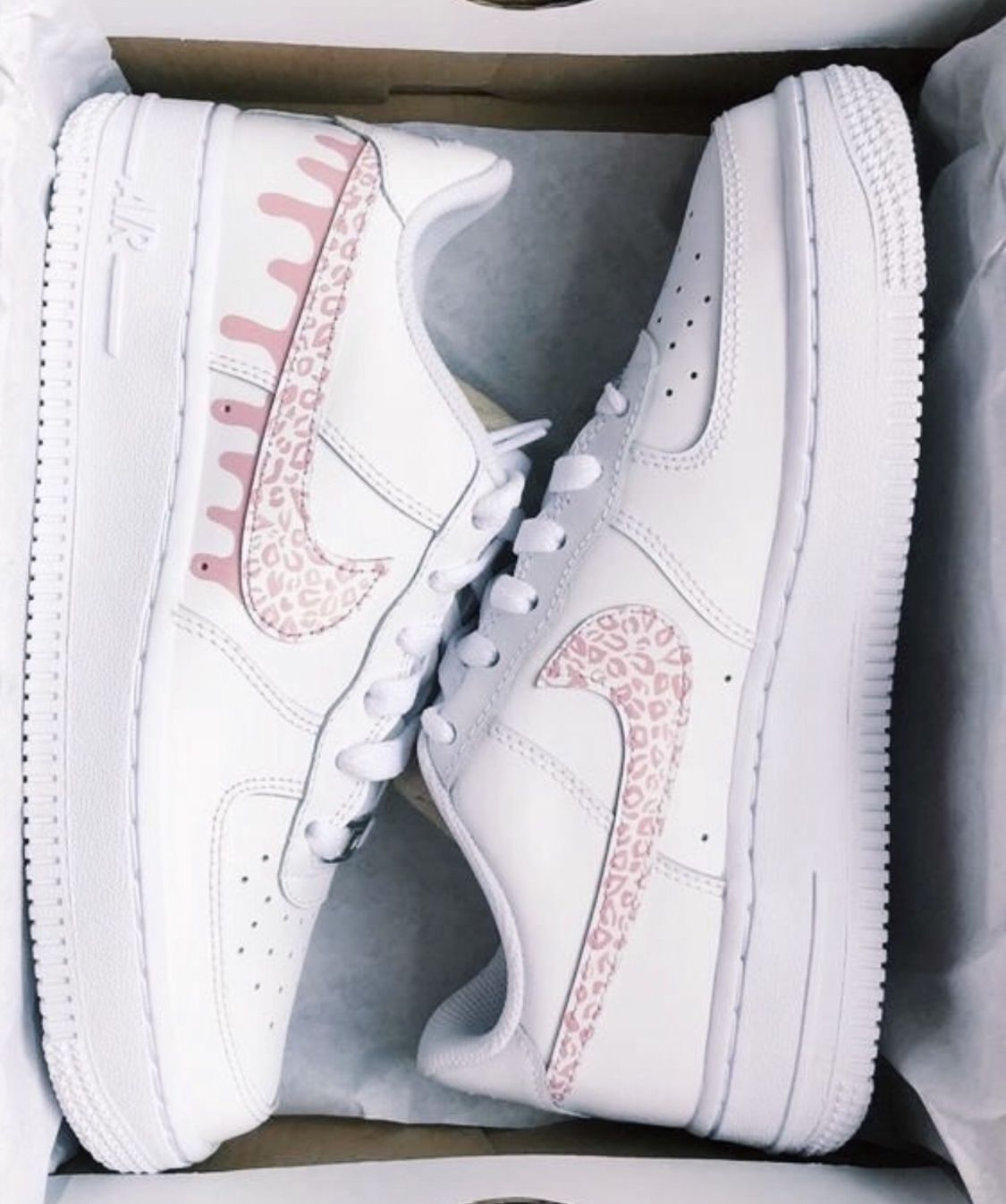 Reflective Butterfly Nike Air Force 1 Custom Sneakers in