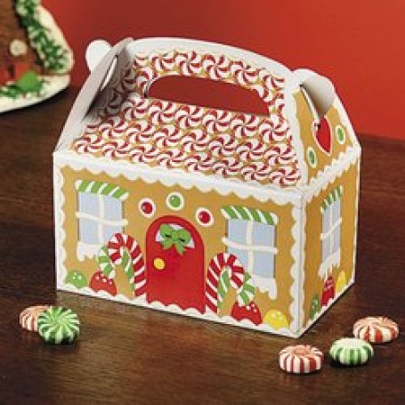 Baby Christmas Party Favors Cardboard Gingerbread House