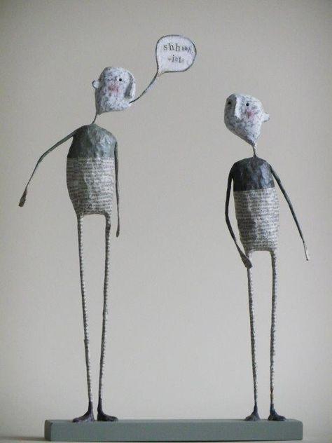 Paper Mache Figures by Jane Strawbridge   cool art and sculpture