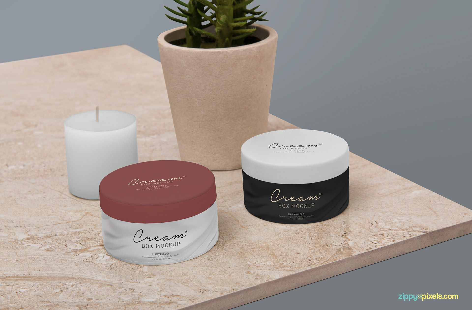 Download Free Amazing Cosmetic Jar Mockup | Cosmetics, Box mockup ...
