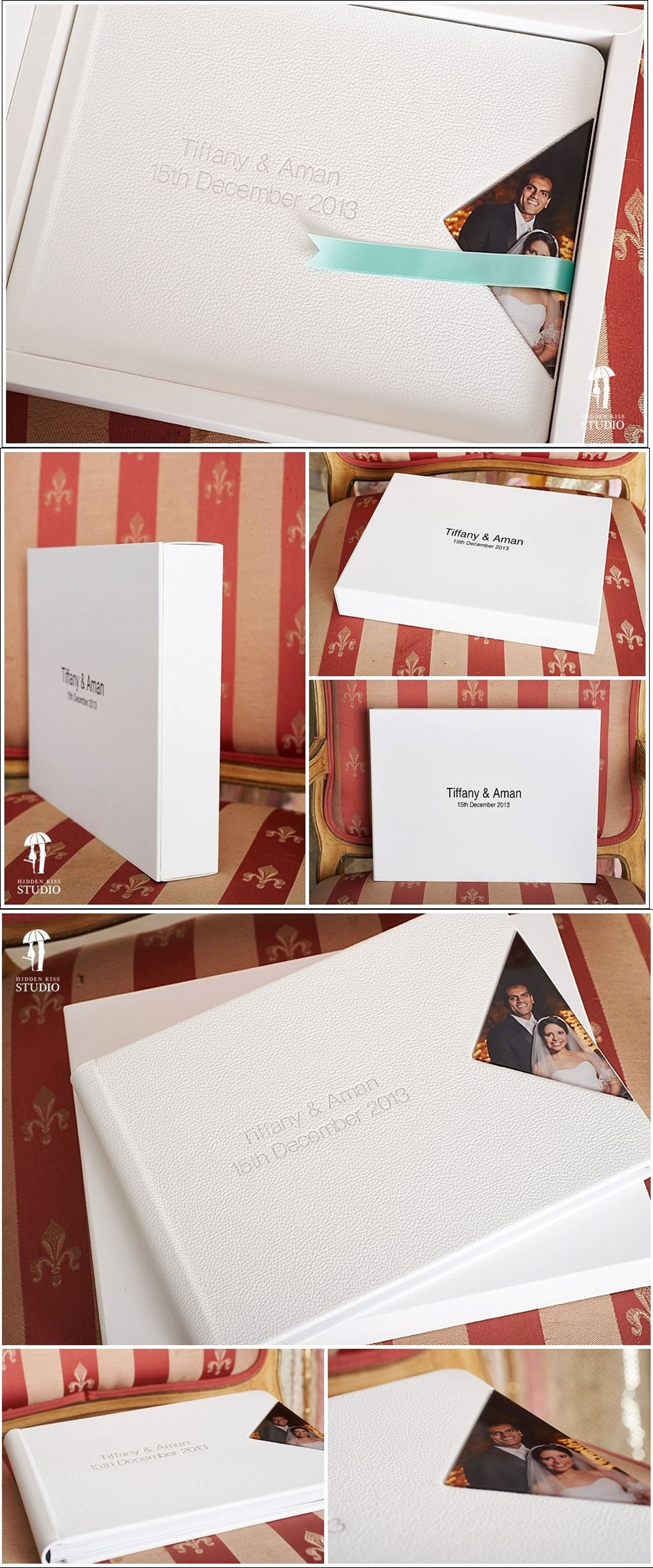 Deluxe Leather Effect White Wedding Day Photo Album 80 Photos