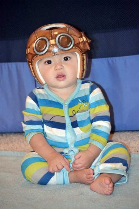 Bomber Style Cranial Bandhelmet DOC Band Httpswwwfacebookcom - Baby helmet decals