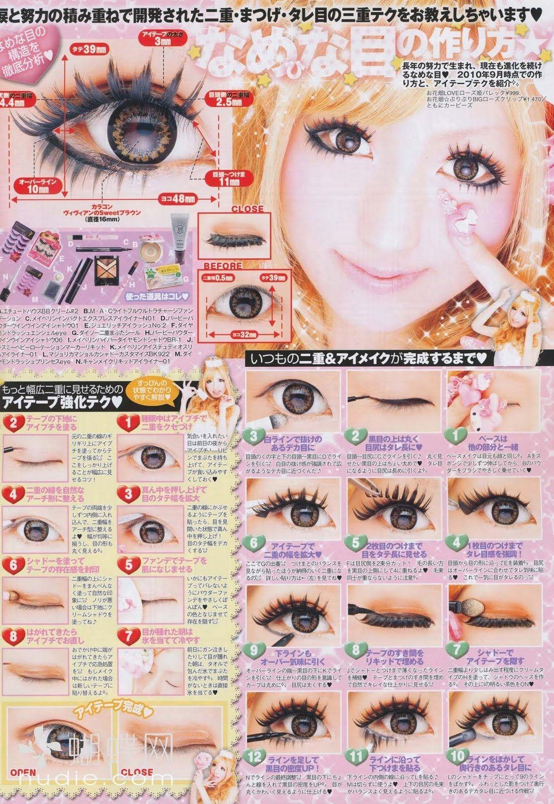 Gyaru makeup tutorial korean japanese gyaru cosplay pinterest gyaru makeup tutorial baditri Gallery