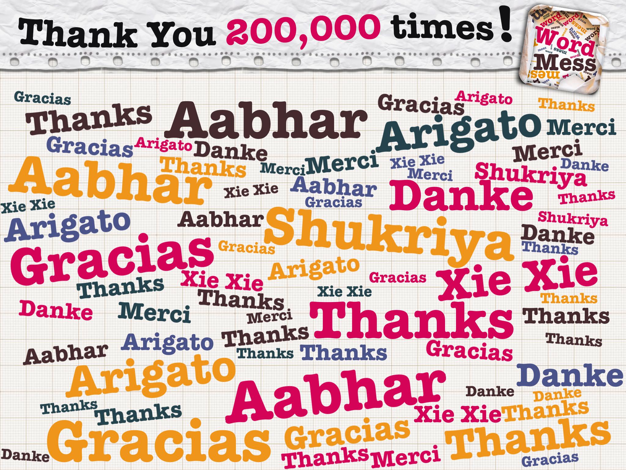 Word Mess crosses 200,000 downloads!