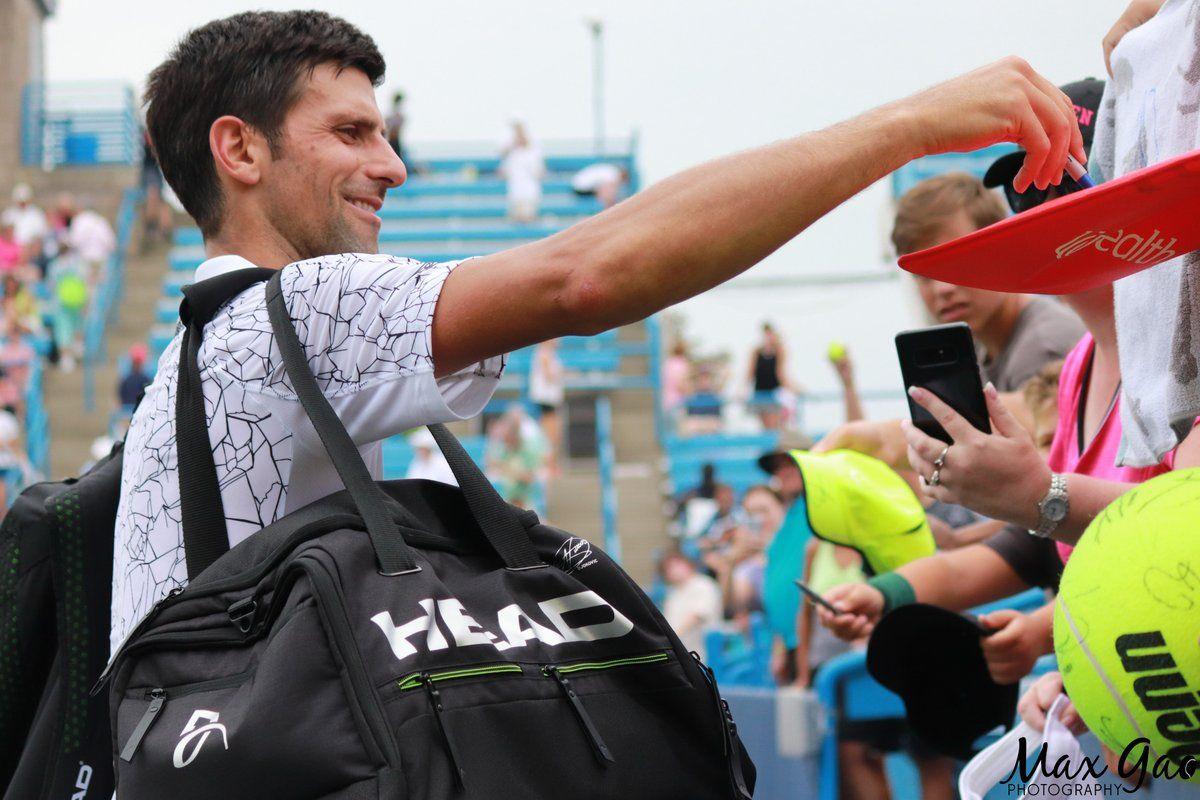 Novak Djokovic And His Head Essential Tennis Bag Tennis Clothes Tennis Bag Racquet Bag