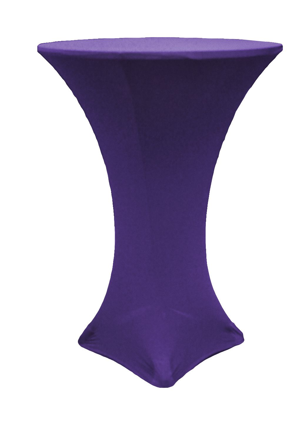 Spandex Cocktail Table Cover 30 Quot Round Purple In 2019
