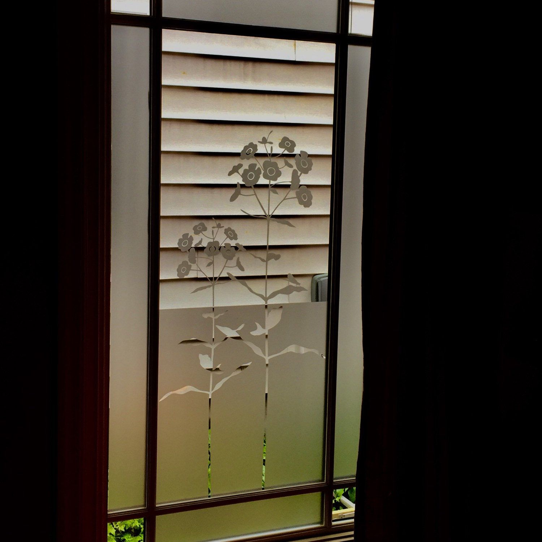 Sichtschutz Tur Fenster Folie Mit Blumen Selbstklebende Folie
