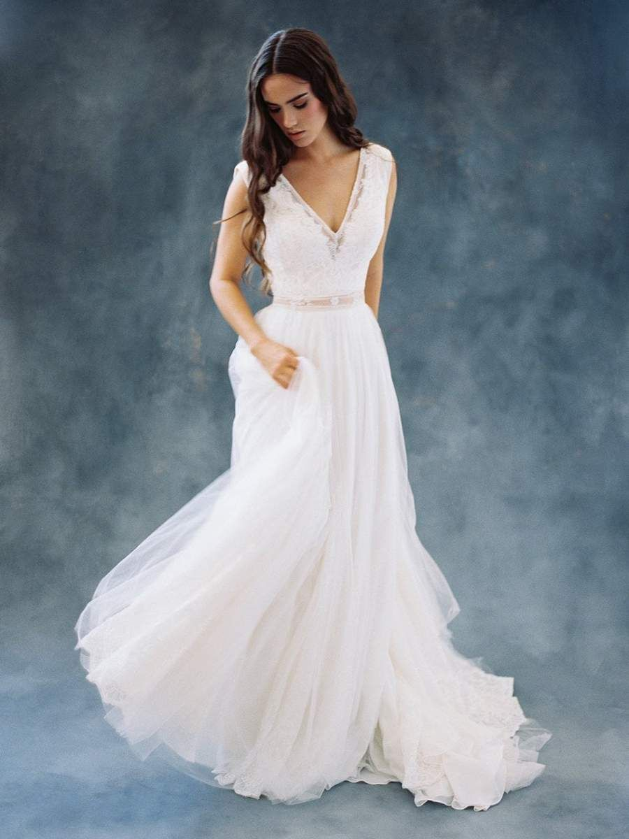 Wilderly Bride By Allure Bridals F106 Lace Chiffon Wedding Dress