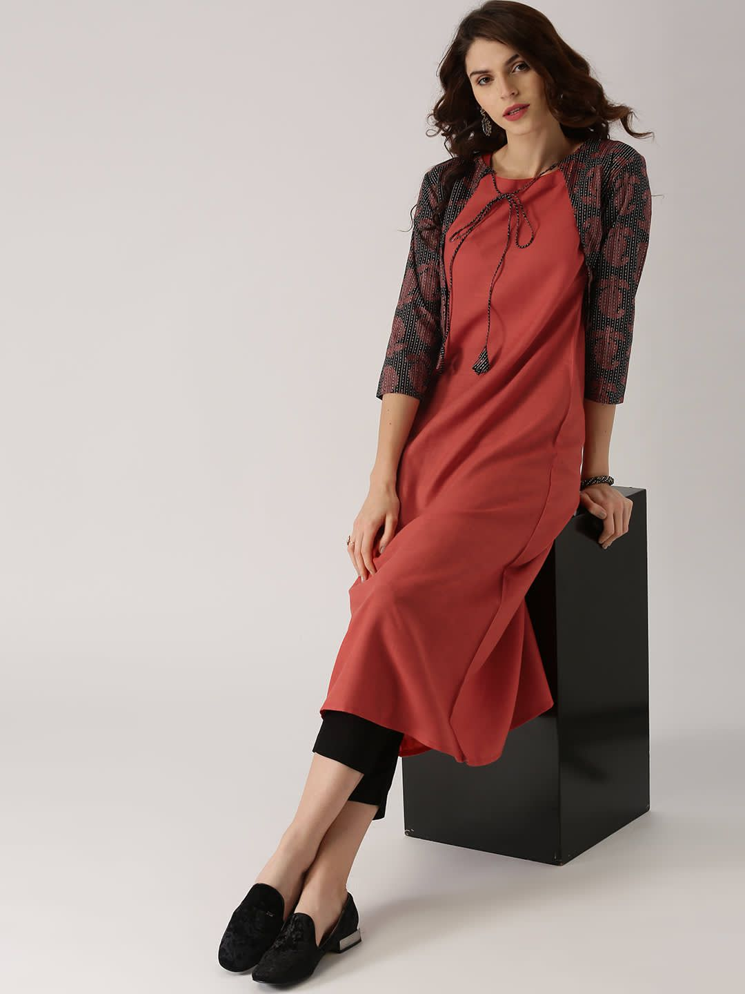 c45d8467d Buy AKS Women Multicoloured Printed A Line Kurta - - Apparel for Women from  AKS at Rs. 899