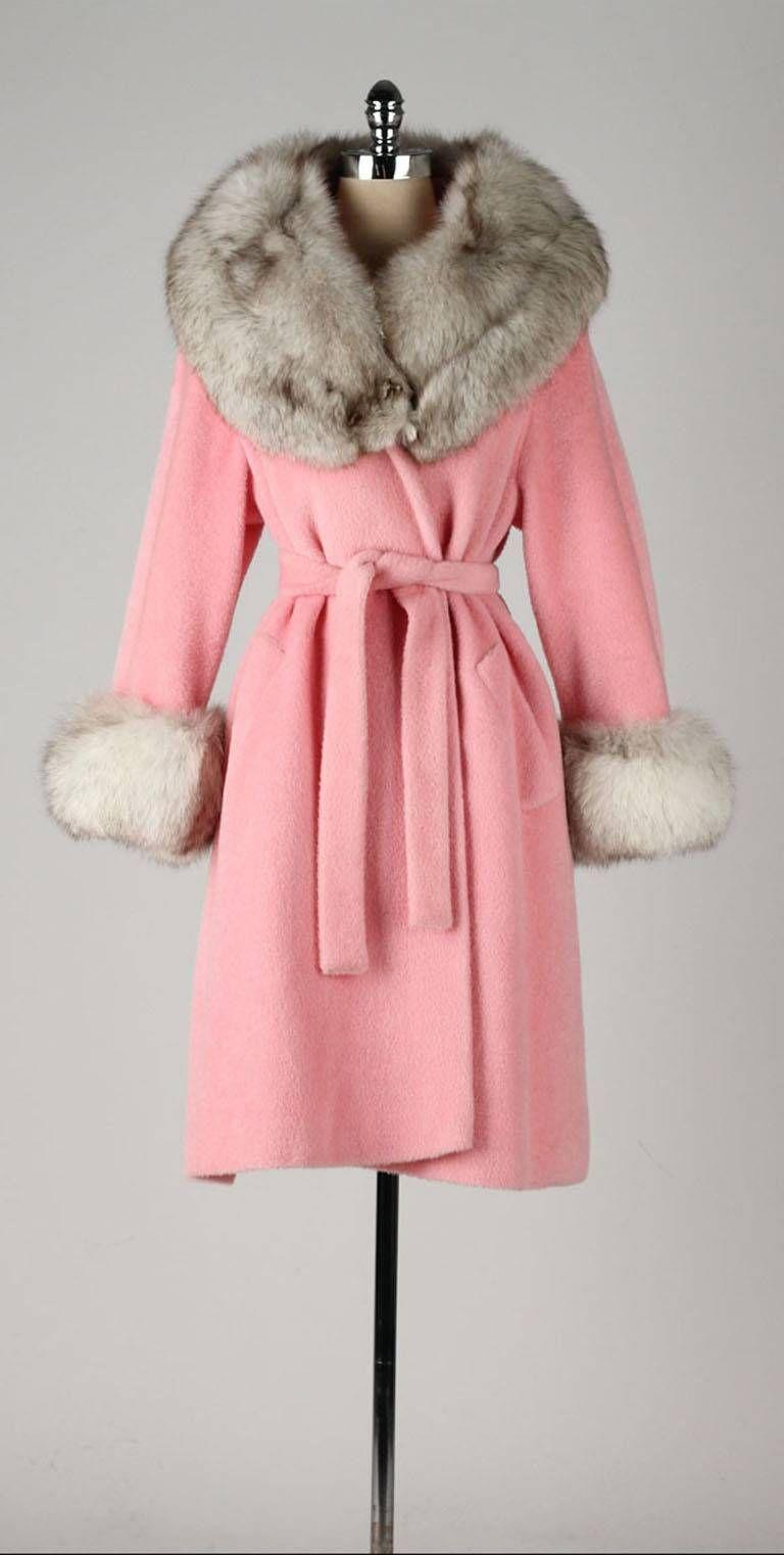 Vintage 1960 S Lilli Ann Pink Wool Fox Fur Coat 1stdibs Com Fur Coat Vintage Vintage Fashion Vintage Outfits [ 1521 x 768 Pixel ]