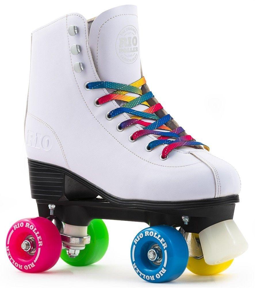 Details About Rio Figure Quad Roller Skates White Rollerskates Senior Junior Wrotkarstwo Buty Moda