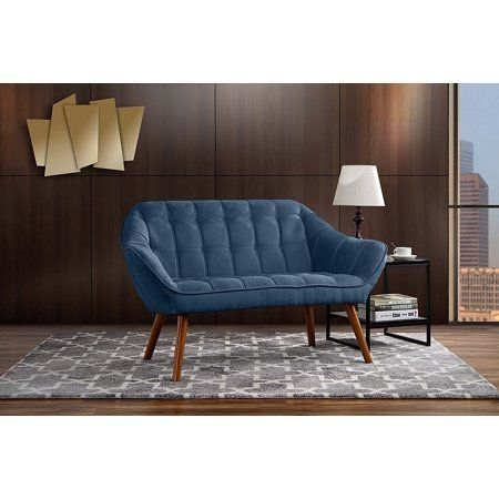 Couch for Living Room, Tufted Linen Fabric Love Seat ...