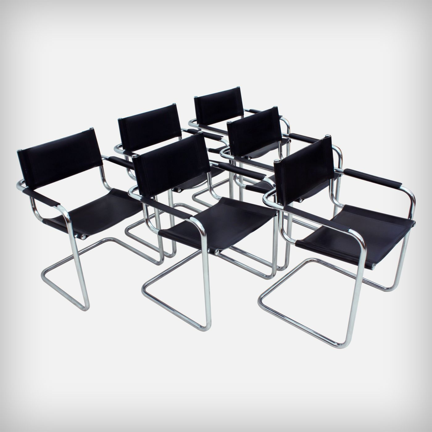 Set Of 6 Dining Or Office Chairs • MG5 AR by Centra Studi Matteo Grassi    Made in Italy   MID-CENTURY furniture, art & accessories :: We ship worldwide! www.goodoldvintage.de