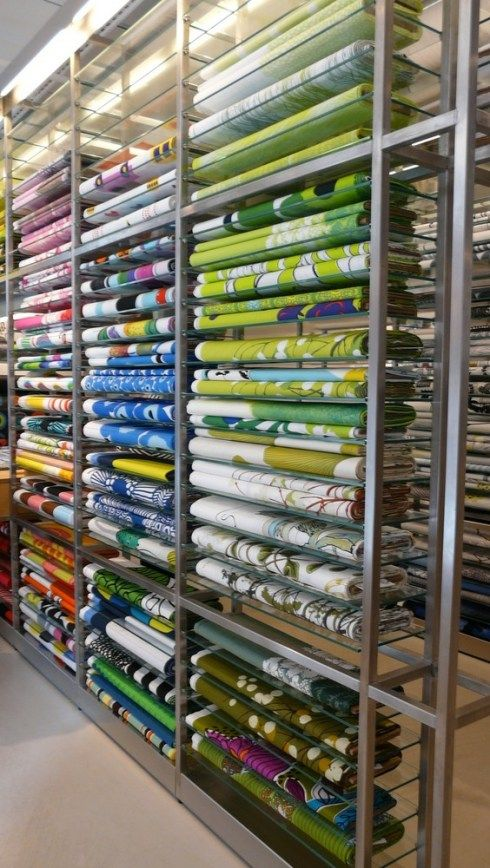 Furniture Fabric Stores Nyc #24 - Fabric Racks At Marimekko. I Plan To Return With Loads Of This.