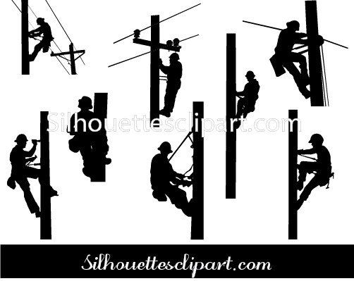 lineman silhouette vector