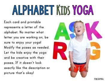 alphabet kids yoga cards  yoga for kids yoga cards
