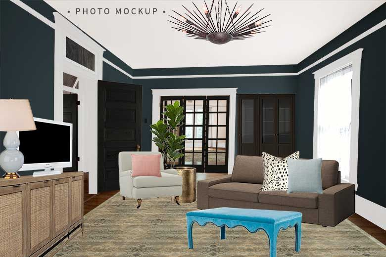 One Room Challenge Den Photo Mockup  Making It Lovely Beauteous Den Living Room Decorating Design