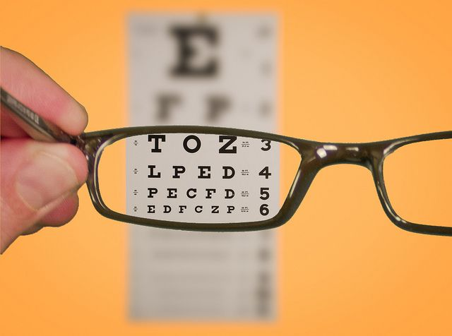 Vision Of Eyechart With Glasses Eye Health Eye Exercises Eye