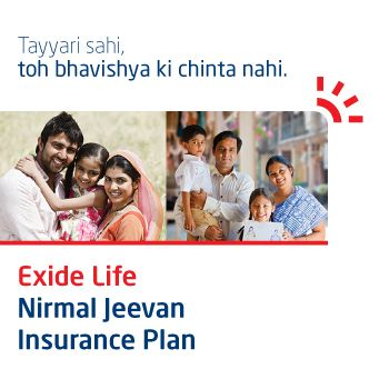 Exide Life Nirmal Jeevan Life Insurance Policy Savings