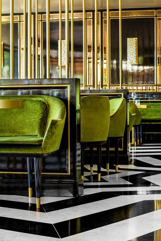 Art Deco   Deko interieur, Restaurant design und ...