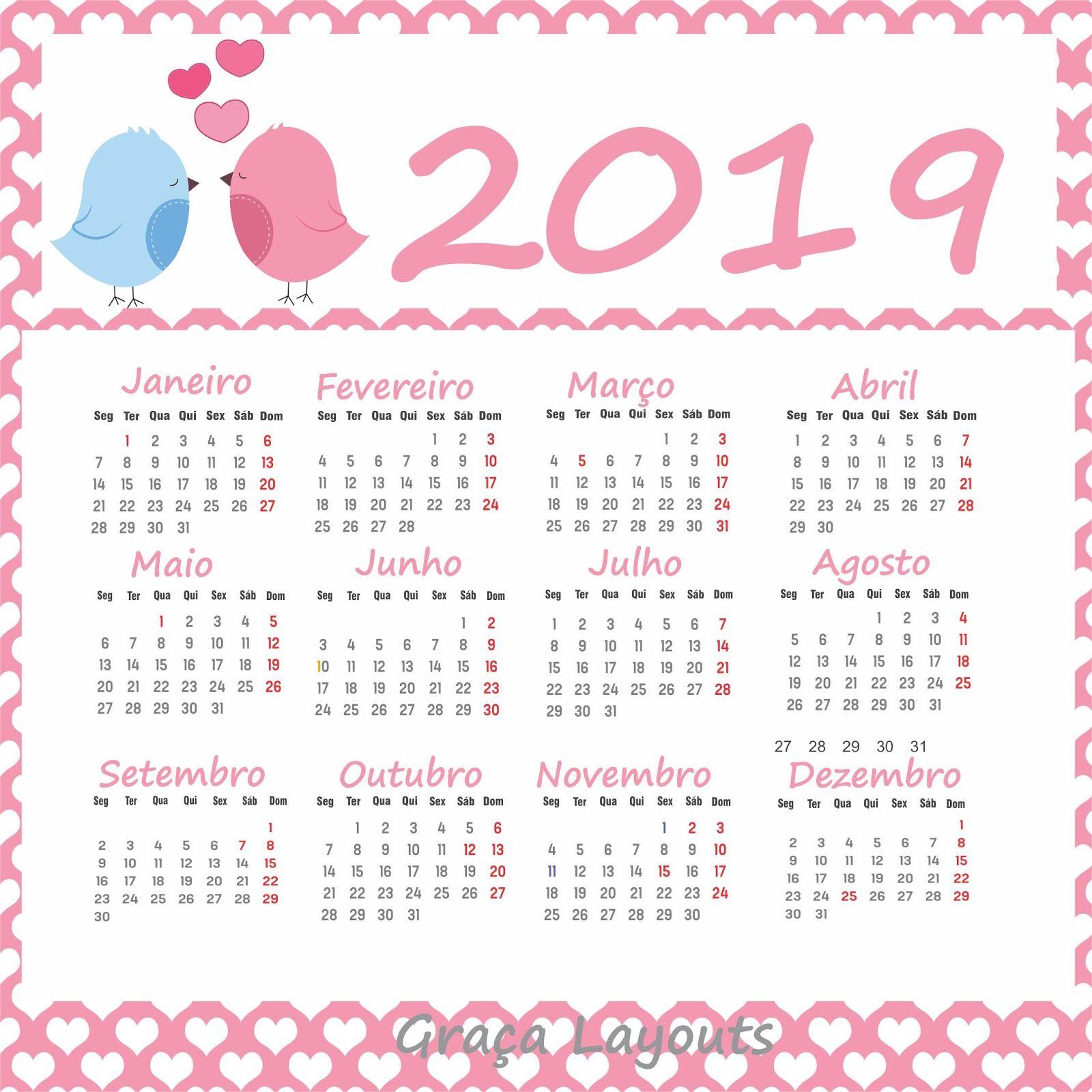 Calendario 2019 Rosa Portugues.Calendarios 2019 Gratis Graca Maestria Ideias De