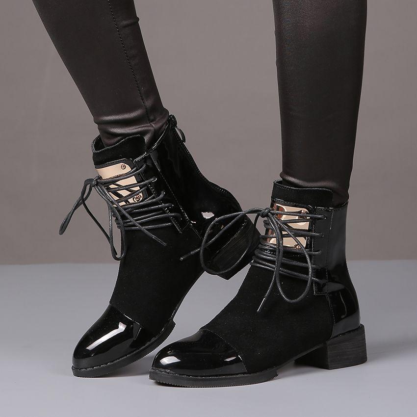 9aa170b9a04 Aliexpress.com  Comprar 35 43 Mujeres Botas de Cuero Genuino botas Planas  Martin Zapatos Botines Para Mujer Botas de Moto de Otoño Invierno de Las  Mujeres ...