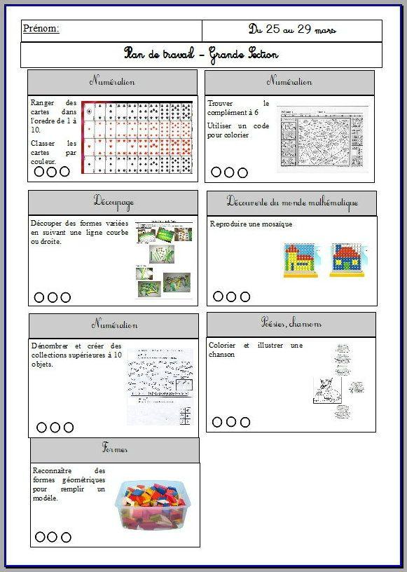 Häufig Ateliers de manipulation type Montessori PS/GS période 1  RA99