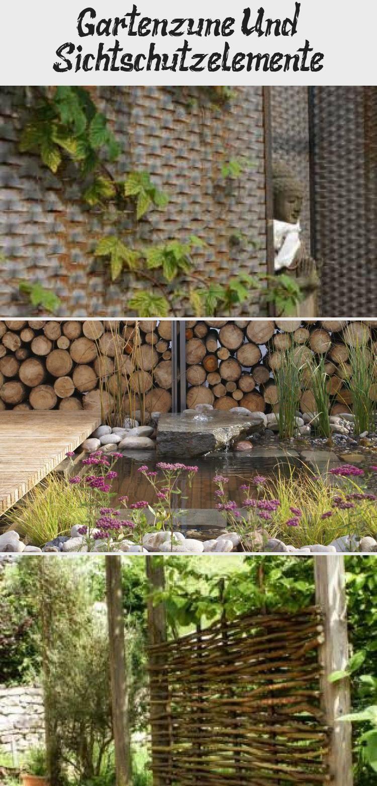 Gartenzaune Und Sichtschutzelemente In 2020 Wood Firewood