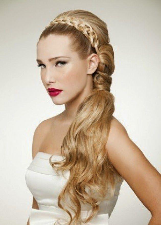 Lindos Peinados Para Nuestra Boda Trenzas Con Glamour 15 Anos - Trenzas-para-una-boda
