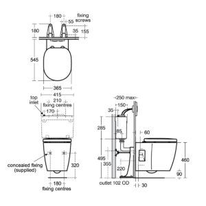 Wall Mounted Commode Height Freedom Wall Wall Hung Toilet Wall