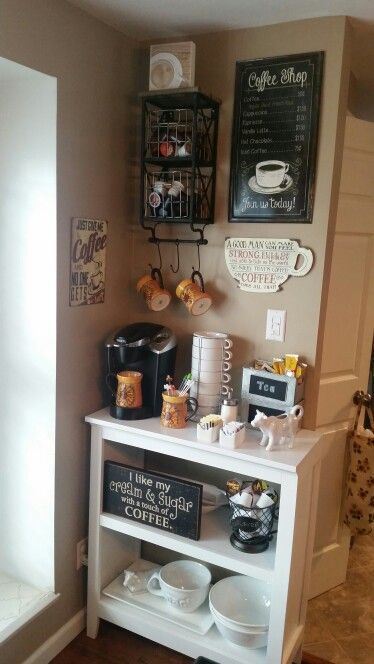 50 Diy Coffee Bar Ideas Inside The Home For Coffee Enthusiast Coffee Bar Home Kitchen Bar Decor Home Coffee Stations