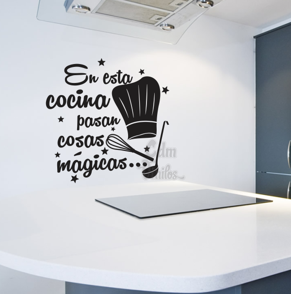 vinilo decorativo cocina gorro chef cocinero cucharon