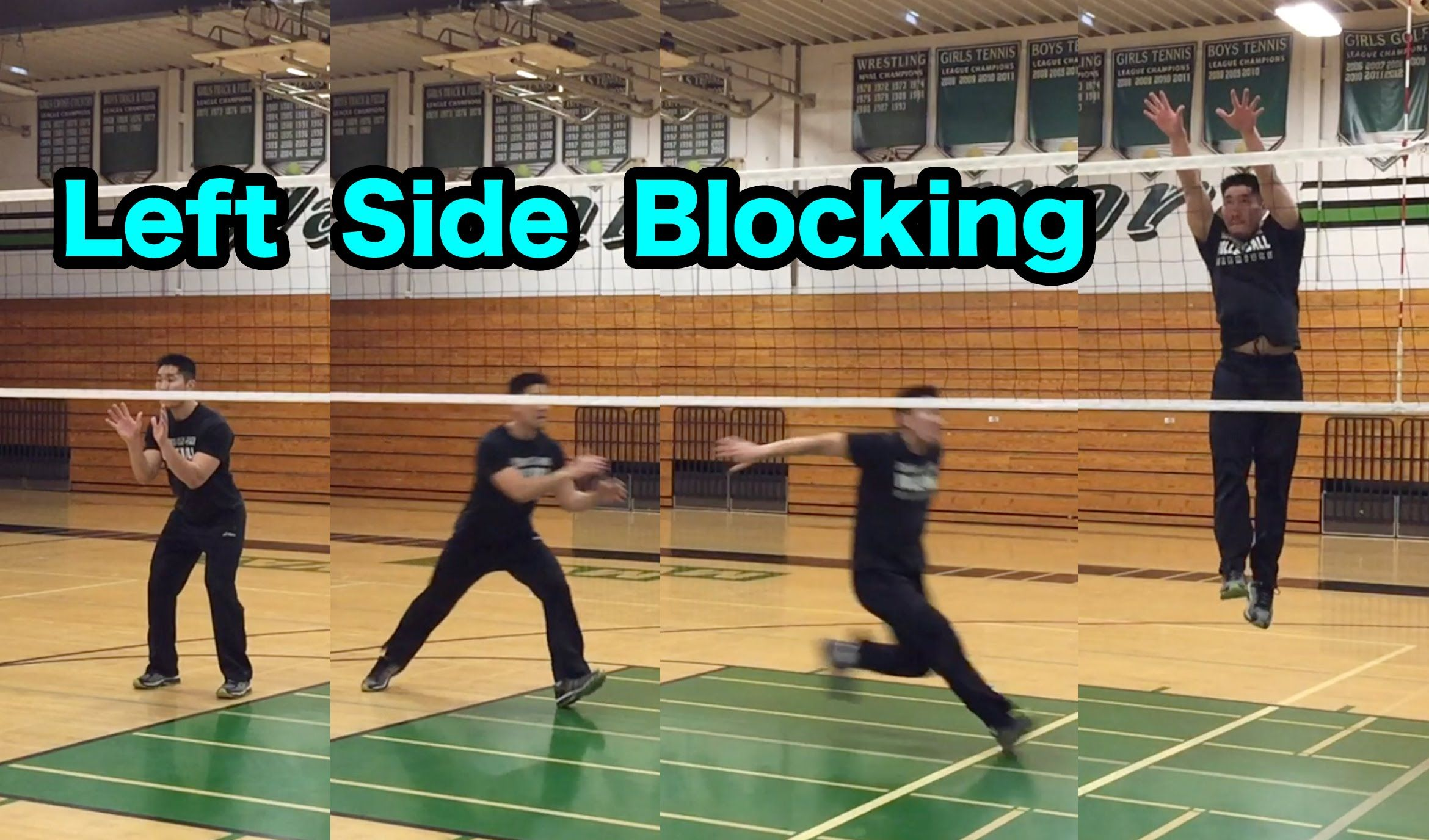 Outside Hitter Blocking Technique Part 1 2 How To Block A Volleyball Coaching Volleyball Volleyball Workouts Volleyball