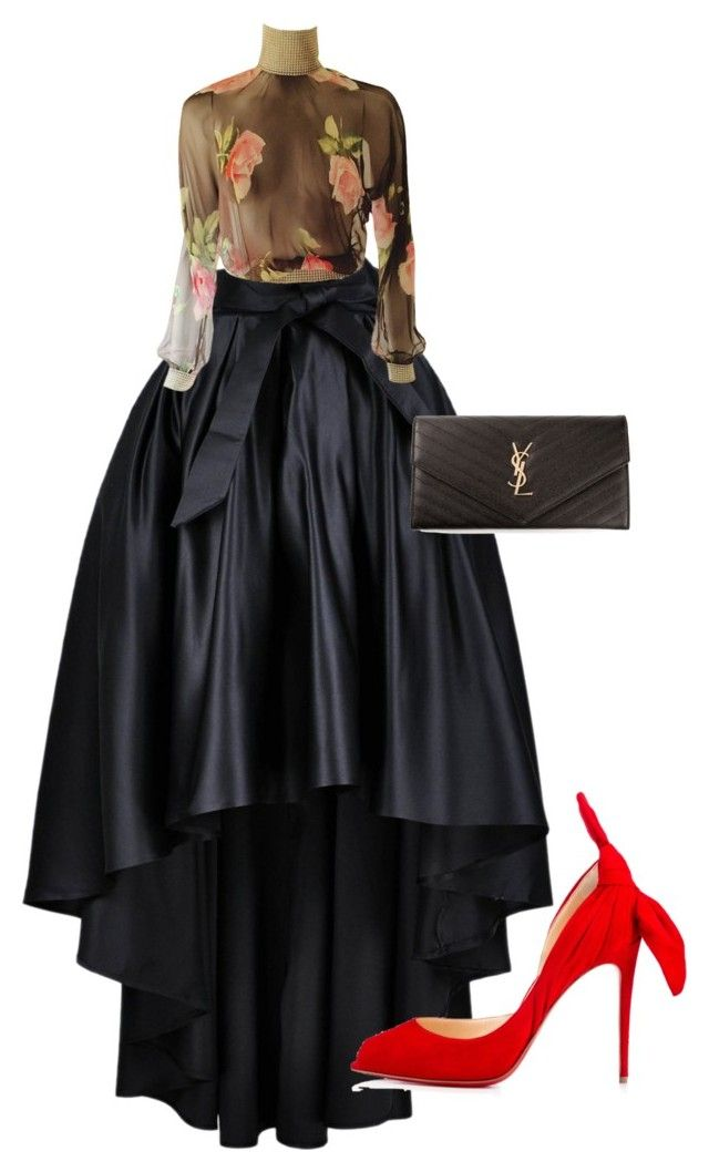 """""""Untitled #38"""" by iphigeniabythesea on Polyvore featuring Christian Louboutin, Dolce&Gabbana and Yves Saint Laurent"""