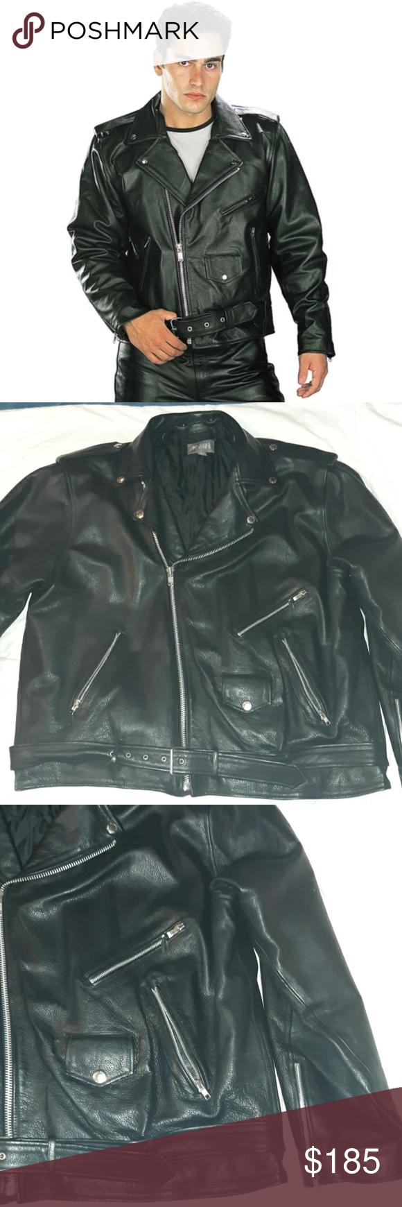 Wilson S Black Leather Biker Motorcycle Jacket 3lt Jackets Black Leather Wilsons Leather Jacket [ png ]