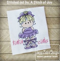 Ballerina 2 Sketch Embroidery Design