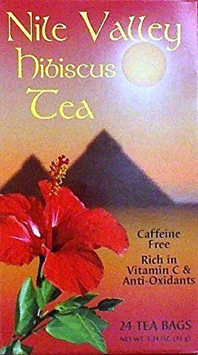 Nile Valley Hibiscus Tea Pack Of 2 24 Tea Bags 1 24 O Hibiscus Tea Tea Bag Tea