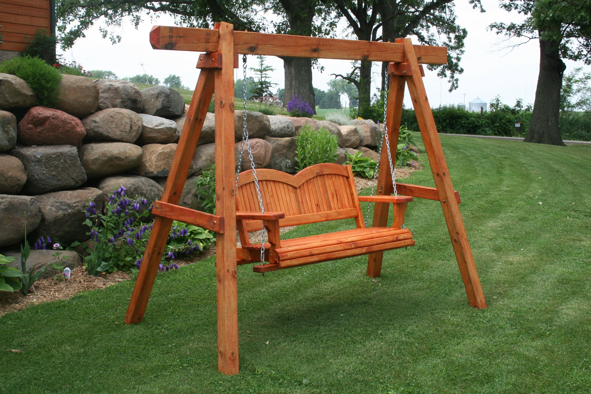 Ideas Wood Porch Swing With Frame Fresh Free Standing 7191 9 Front Light Screened Kits Fixtures Wrought Iron Railings Menards