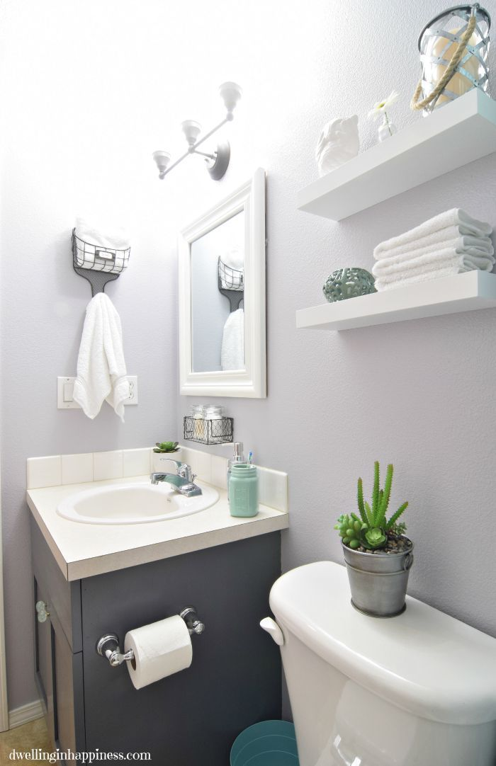 Light Amp Bright Guest Bathroom Makeover The Reveal Diy