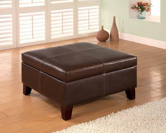 Costco Leather Ottoman Coffee Table Leather Storage Ottoman