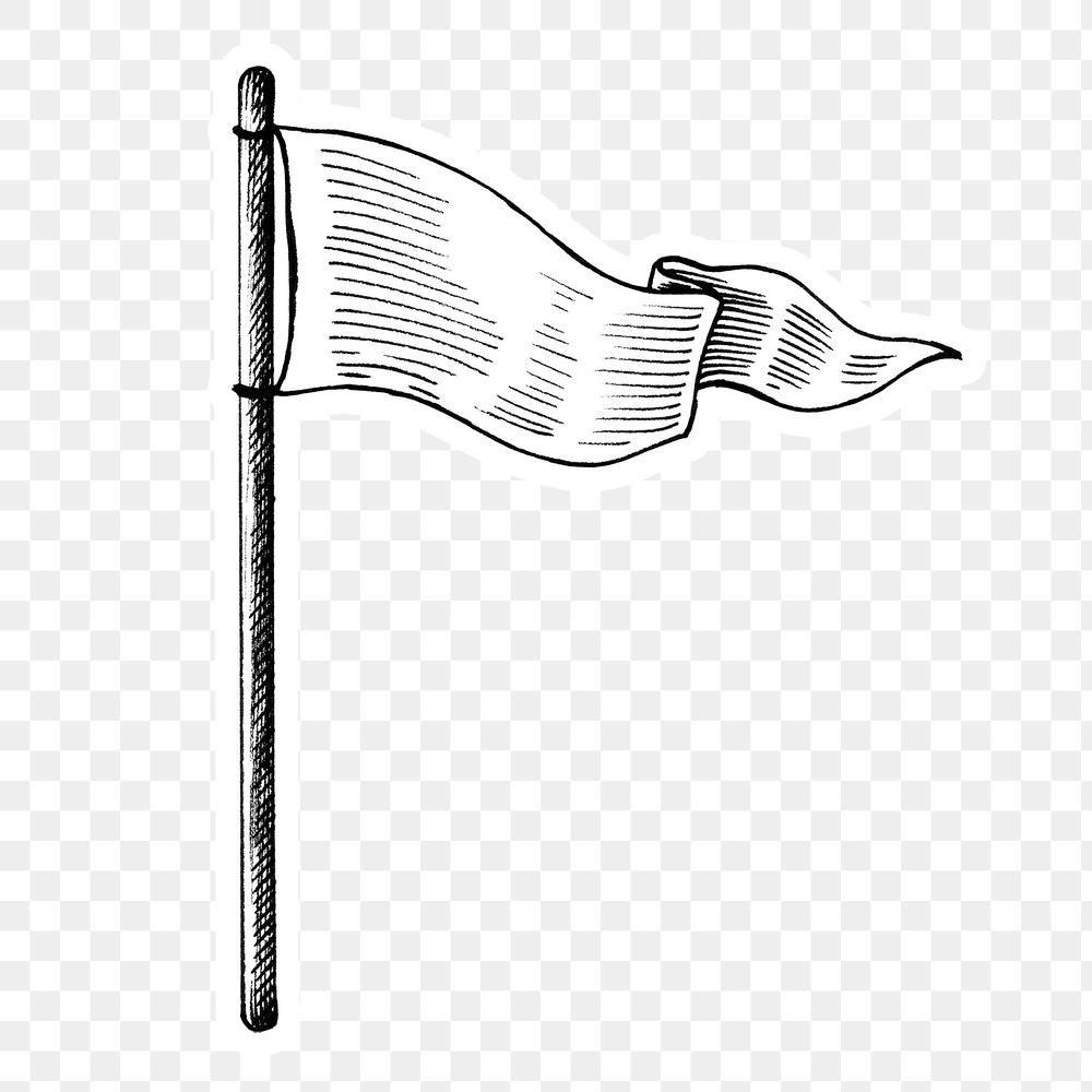 Hand Drawn White Flag Sticker Design Element Free Image By Rawpixel Com Hein Sticker Design Flag Design How To Draw Hands