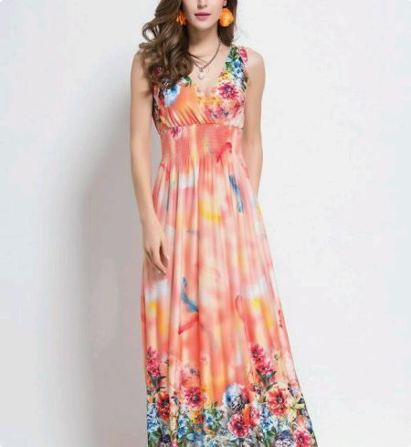 8db36b88f3ee Pink Floral Maxi Dress - Buy Pink Floral Maxi Dress Online India at Best  Prices - Kraftly.com