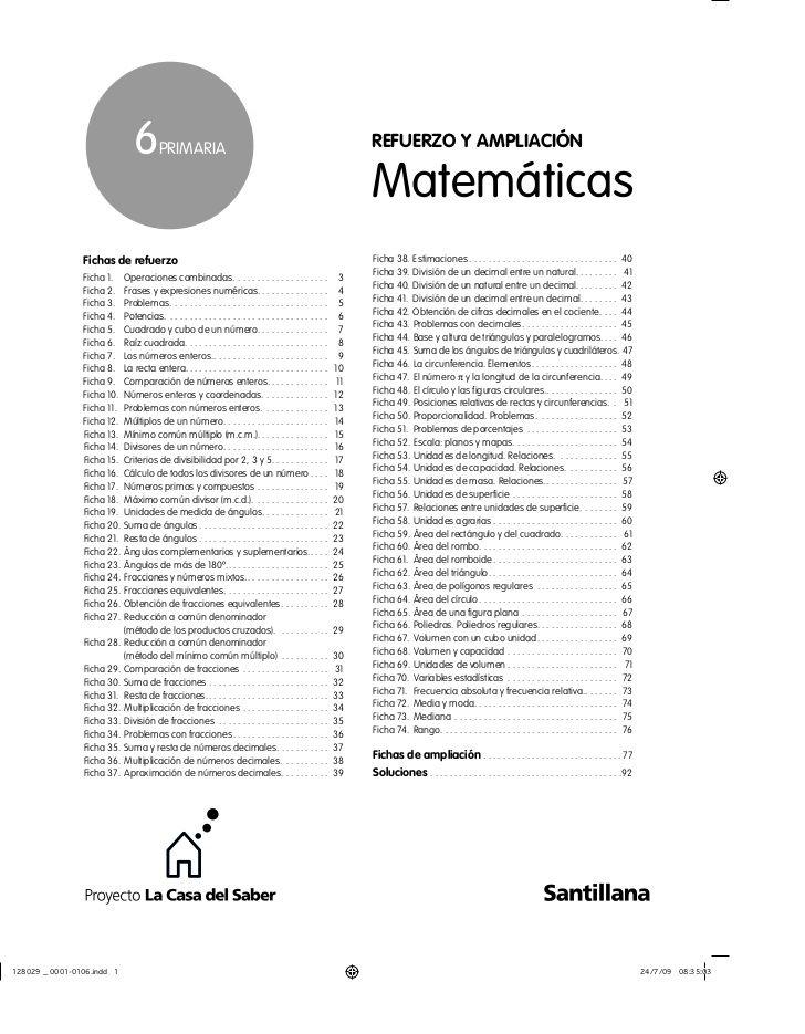 6 priMaria refuerzo y ampliación ... | Matemáticas | Pinterest | Matem…
