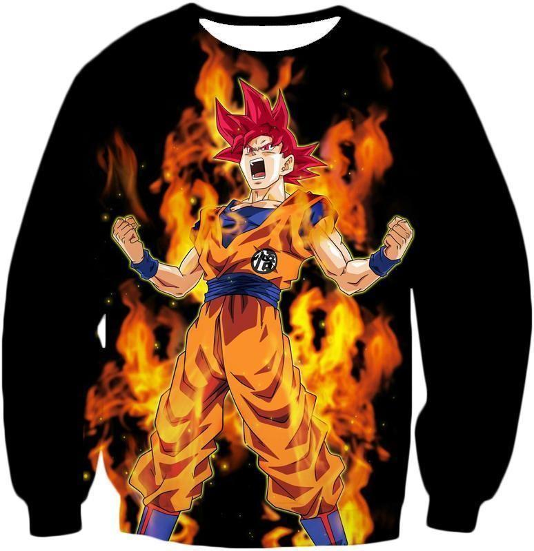 Dragon Ball Z T-Shirt - Super Saiyan God Red Goku T-Shirt - Sweatshirt / S