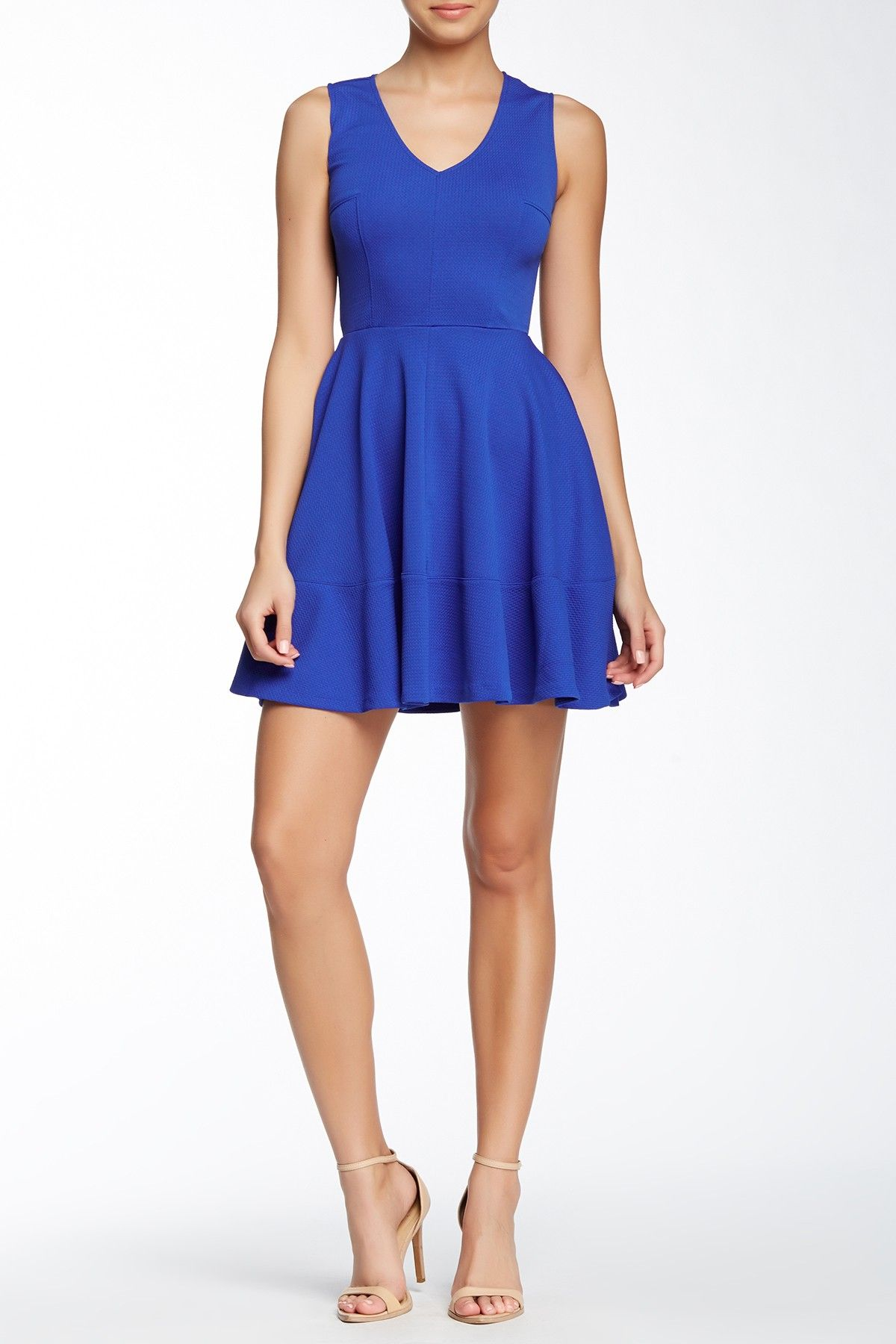 Textured Knit Fit & Flare Dress by Love...Ady on @nordstrom_rack