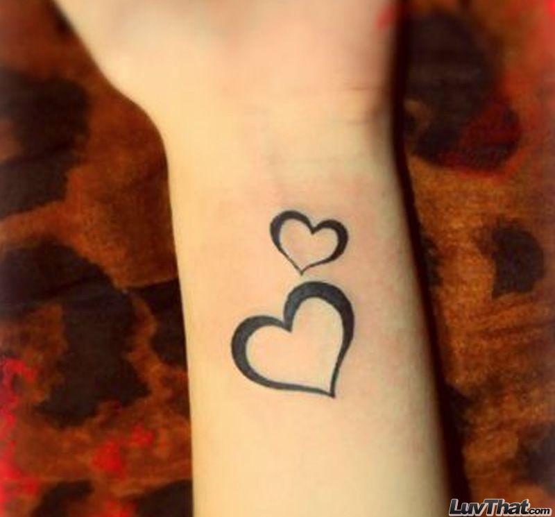 75 Amazing Wrist Tattoos Heart Tattoo Wrist Small Heart Tattoos Two Hearts Tattoo
