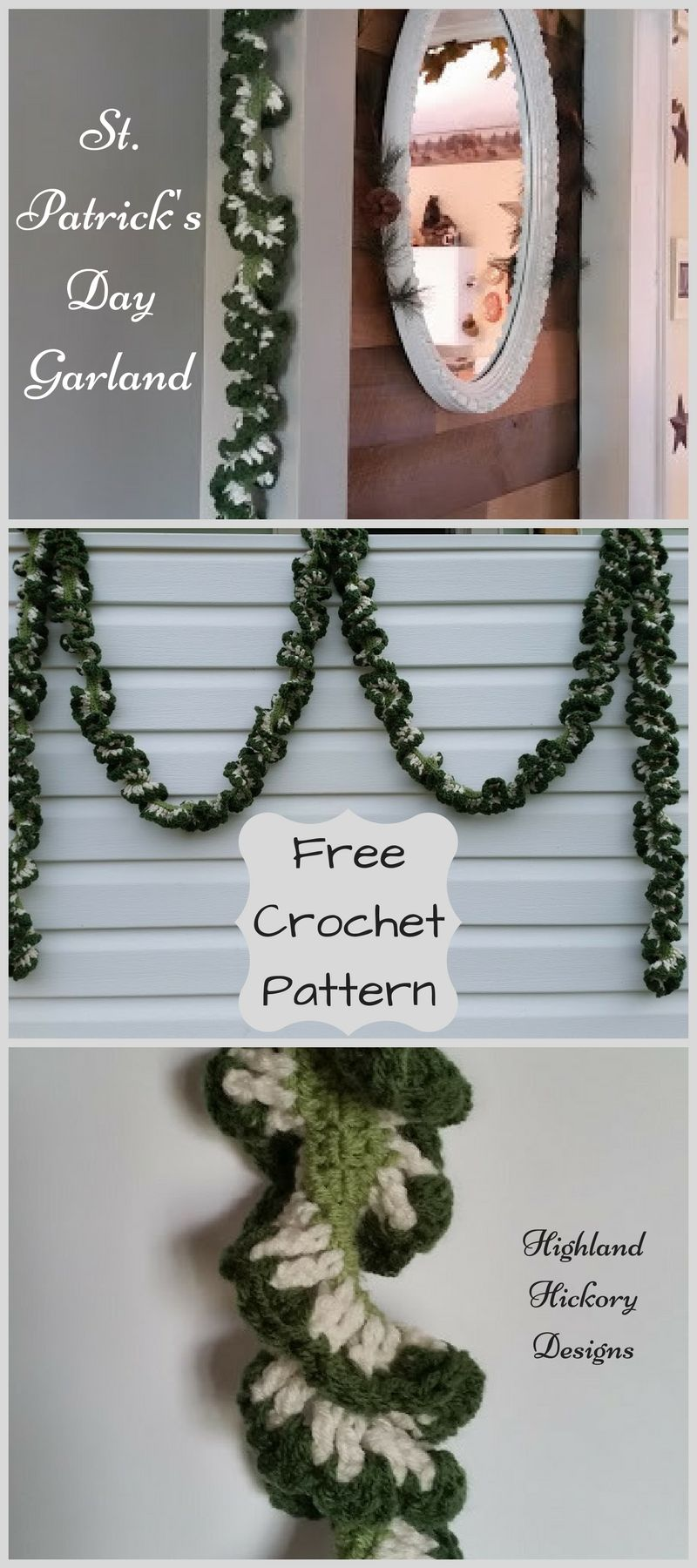 Holiday Garlands | Free pattern, Garlands and Crochet